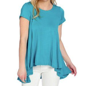 Kate & Mallory Swing Top, Teal, size M or L